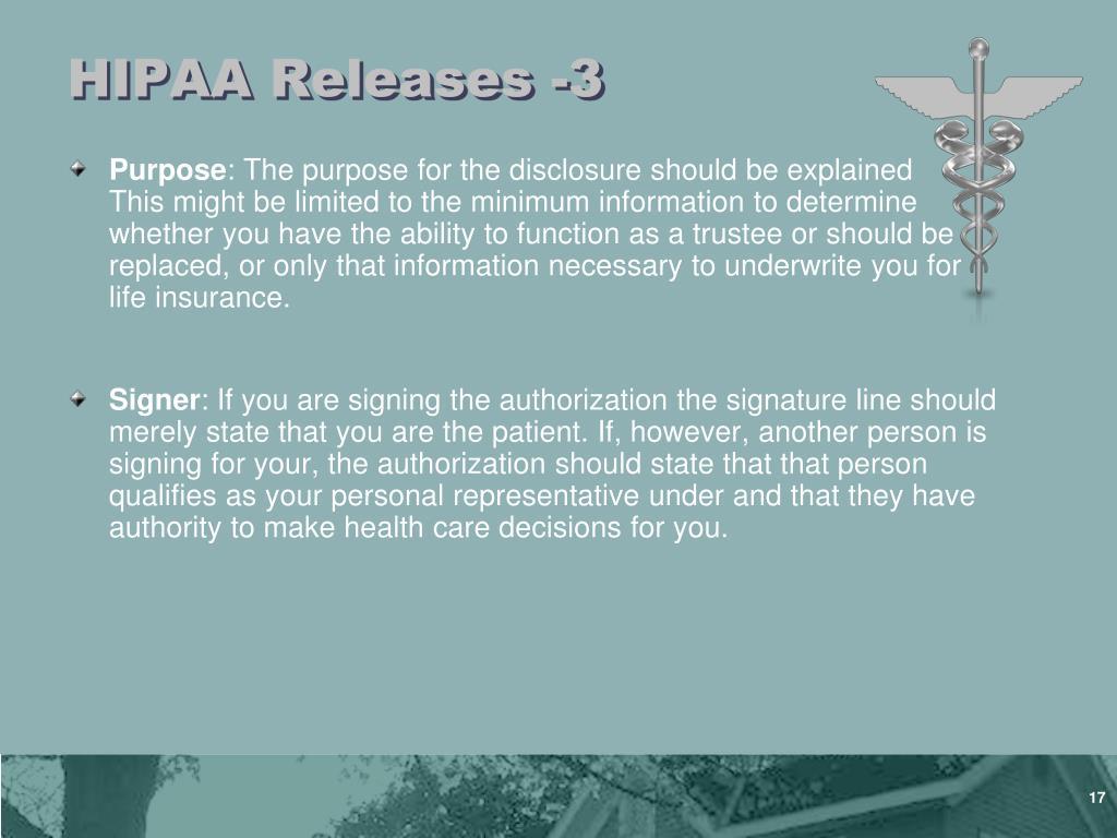 HIPAA Releases -3