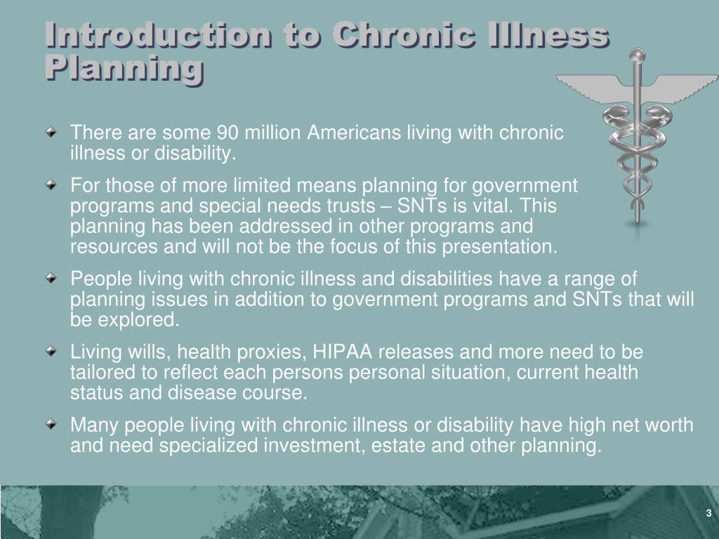 Introduction to Chronic Illness Planning