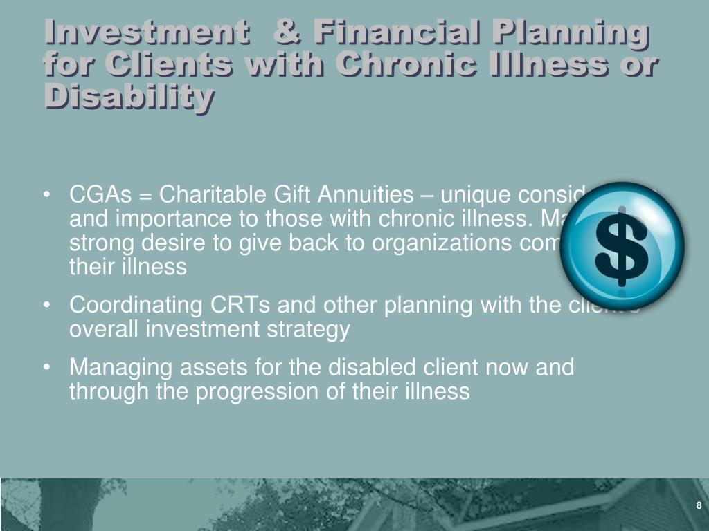 Investment  & Financial Planning for Clients with Chronic Illness or Disability