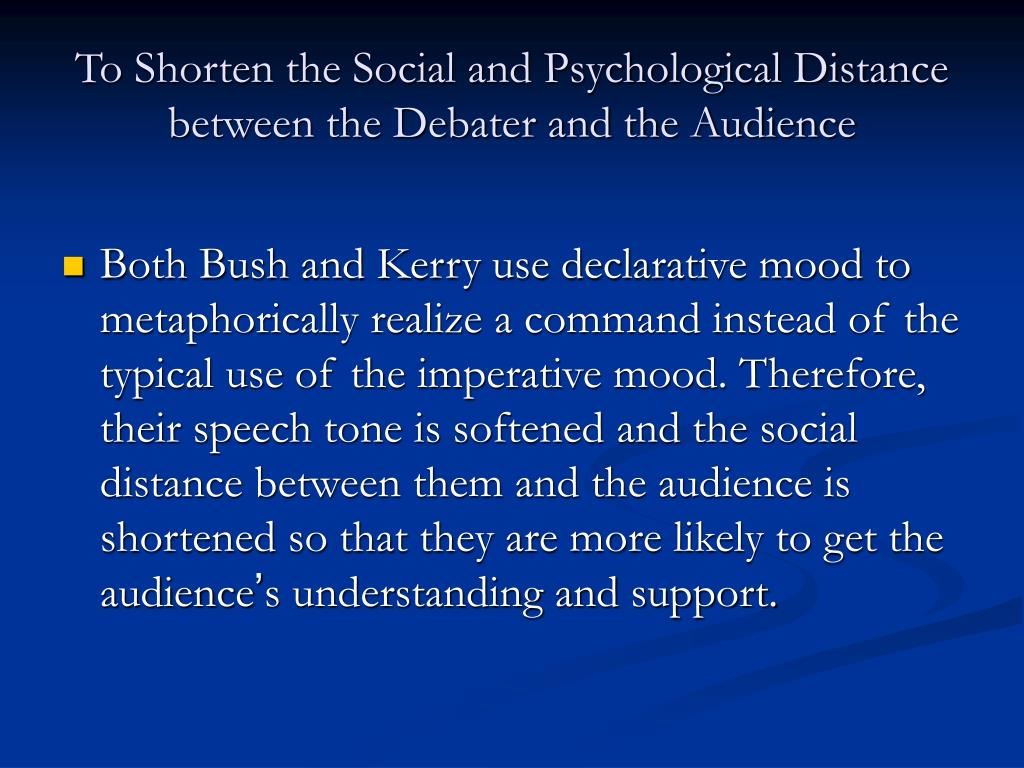 the distance between psychological and social