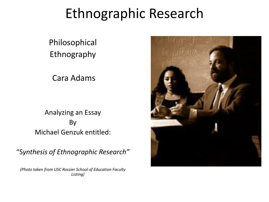 ethnographic research l.
