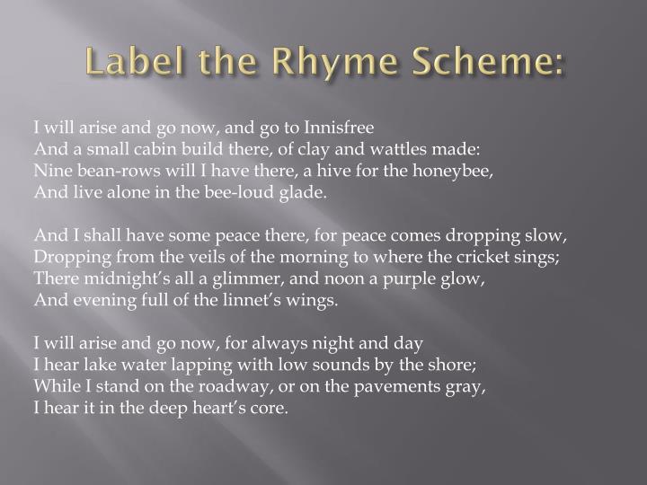 Label the rhyme scheme