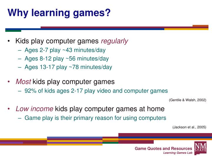 why learning games n.