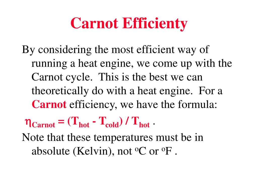 Carnot Efficienty