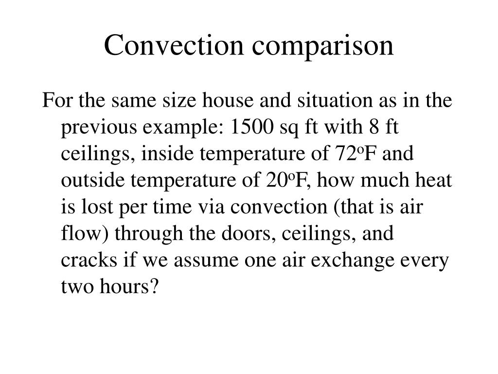 Convection comparison