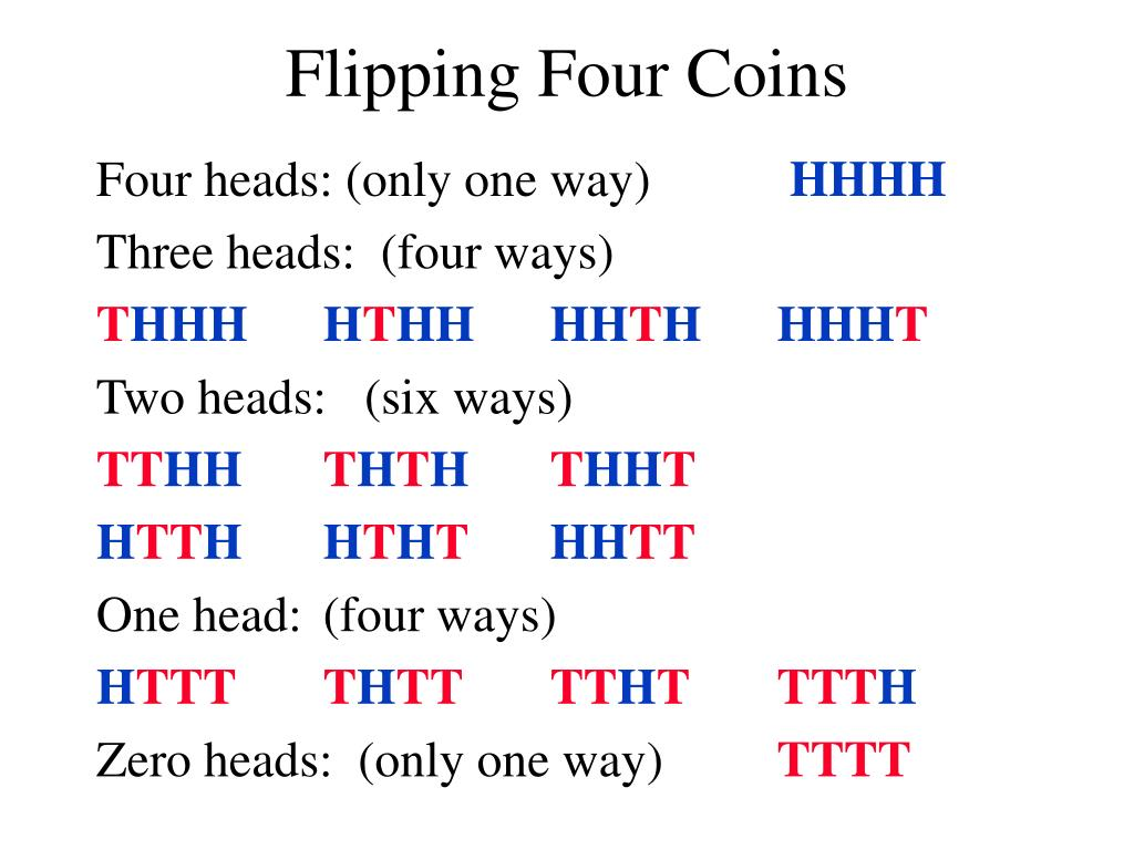 Flipping Four Coins