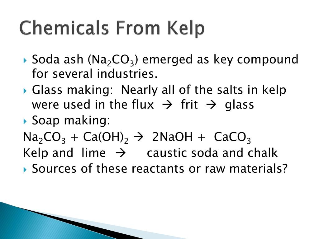 Chemicals From Kelp