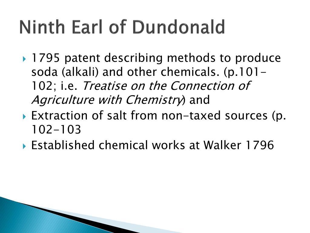Ninth Earl of Dundonald