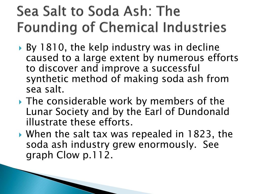 Sea Salt to Soda Ash: The Founding of Chemical Industries