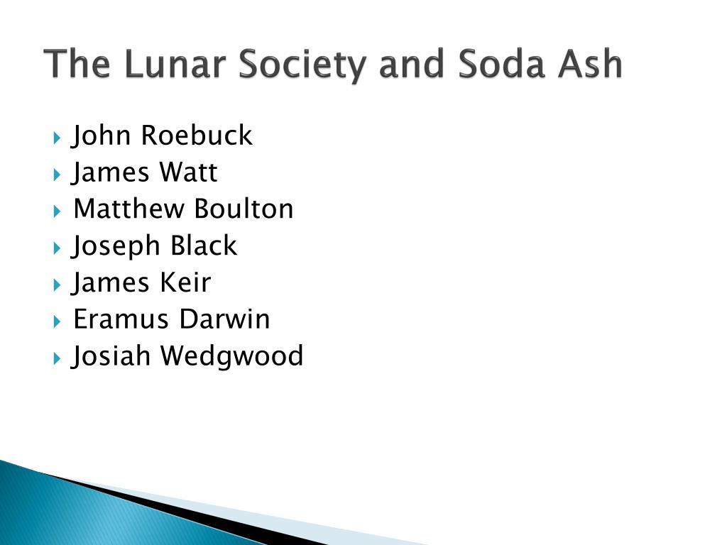 The Lunar Society and Soda Ash