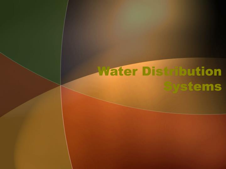 water distribution systems n.