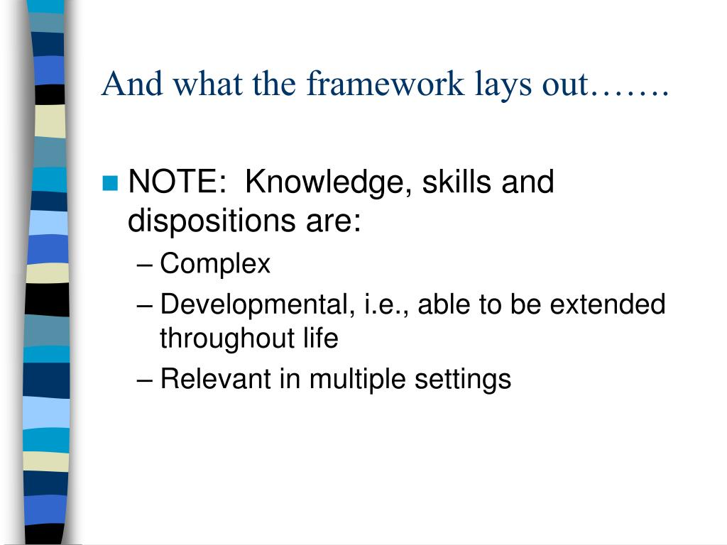 And what the framework lays out…….