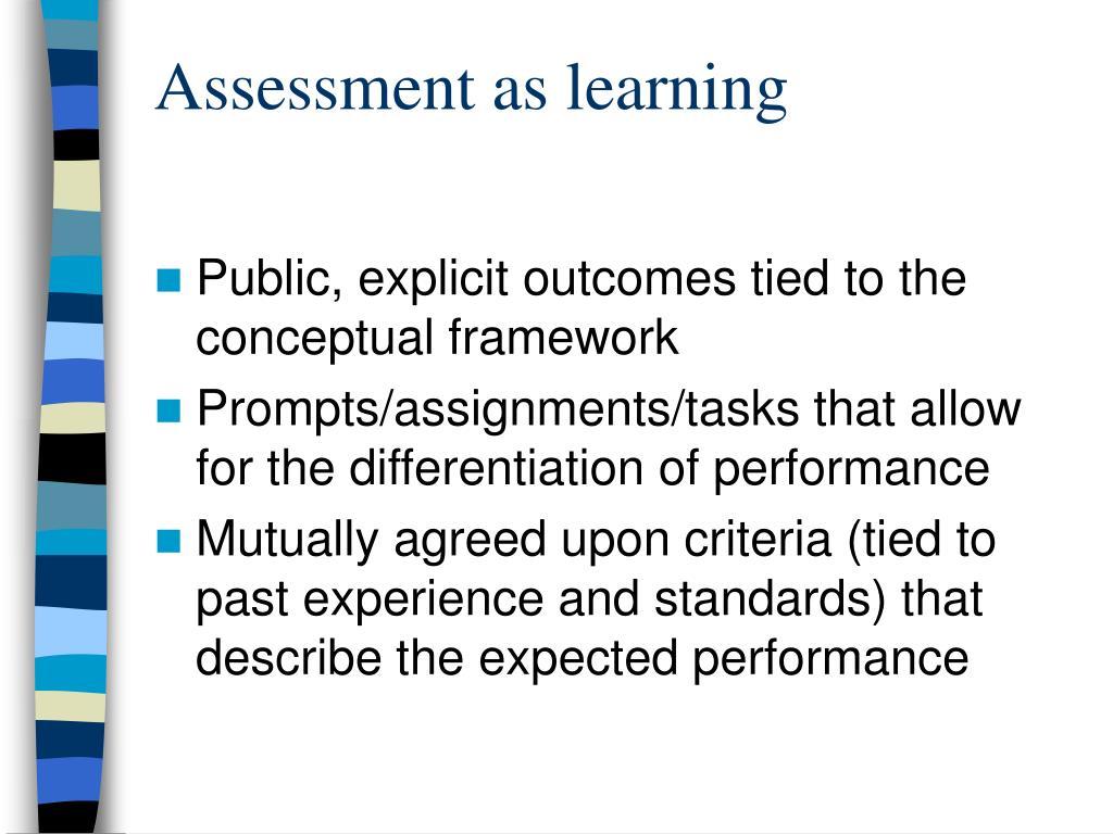 Assessment as learning
