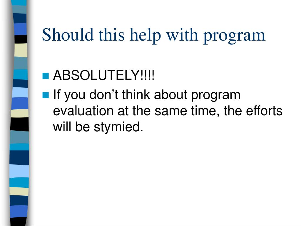 Should this help with program