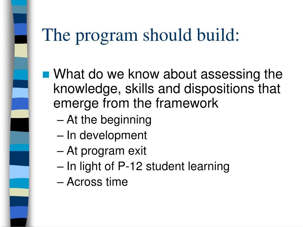 The program should build: