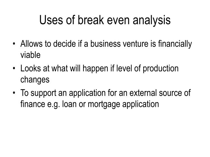 evaluate break even analysis as a decision making Break-even analysis is the relationship between cost volume and profits at various levels of activity, with an emphasis on the break-even point break-even analysis enables a business organization to: measure profit and losses at different levels of production and sales predict the effect of changes in.