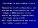 guidelines for hospital participants