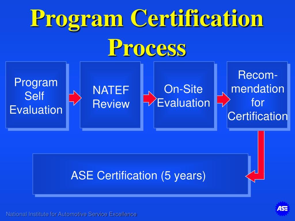 natef certification evaluation program etl team leader training ppt powerpoint presentation