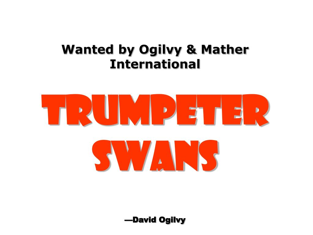 Wanted by Ogilvy & Mather International