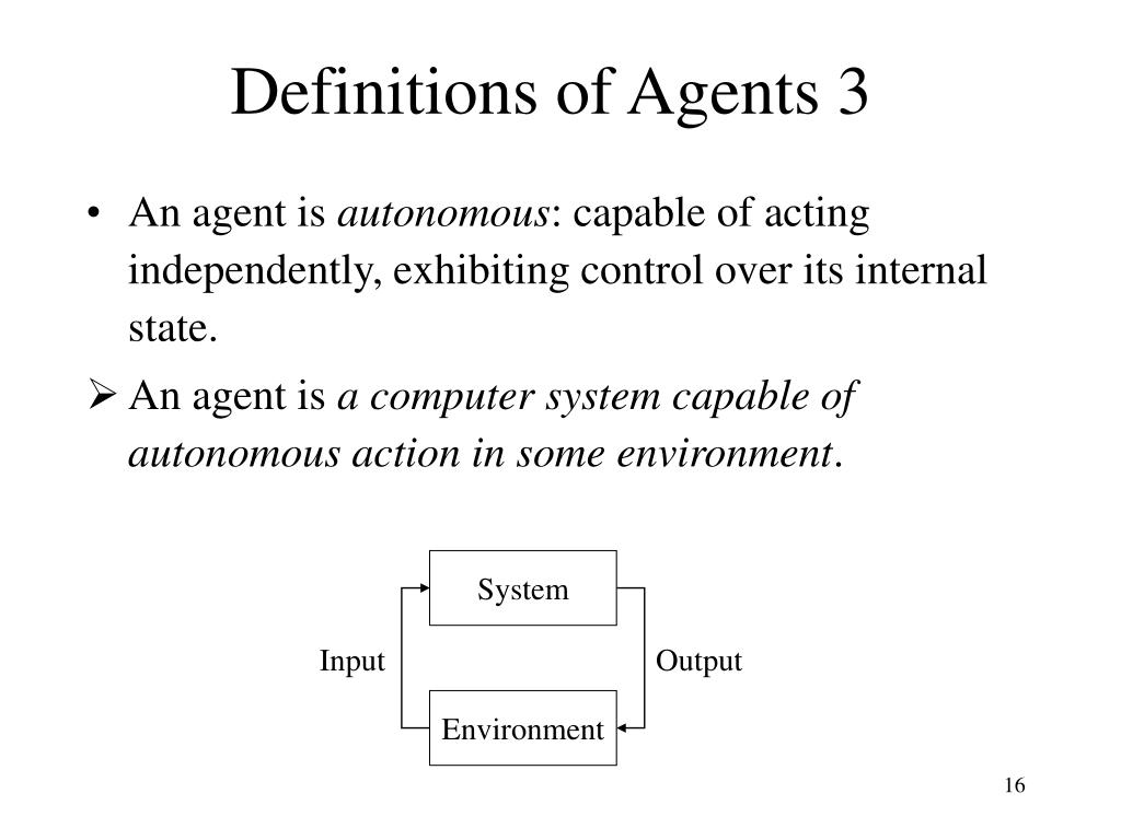 Definitions of Agents 3