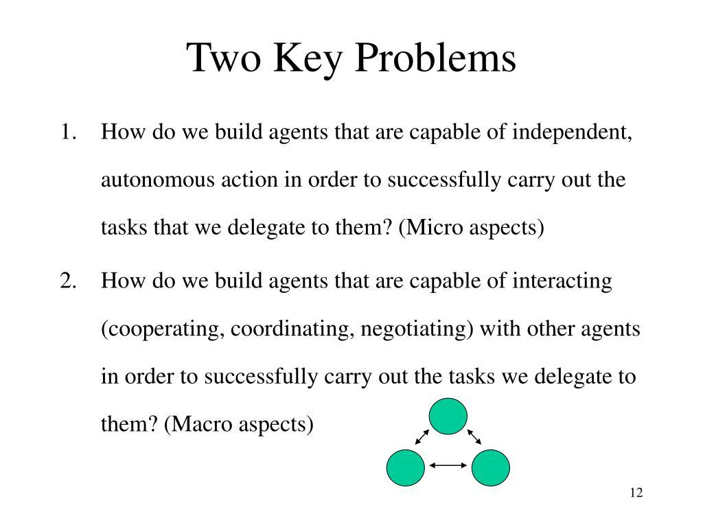 Two Key Problems
