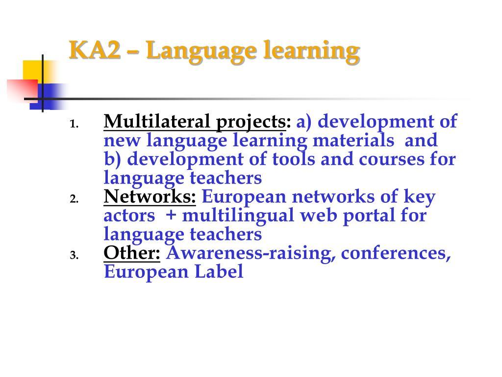 KA2 – Language learning