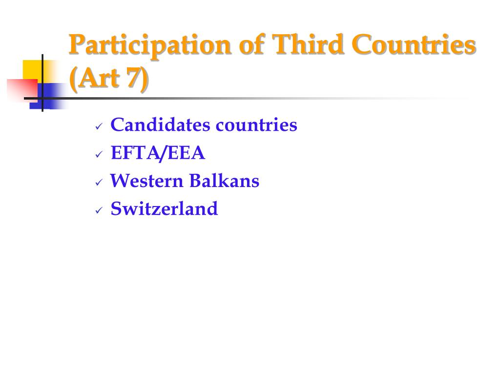 Participation of Third Countries (Art 7)