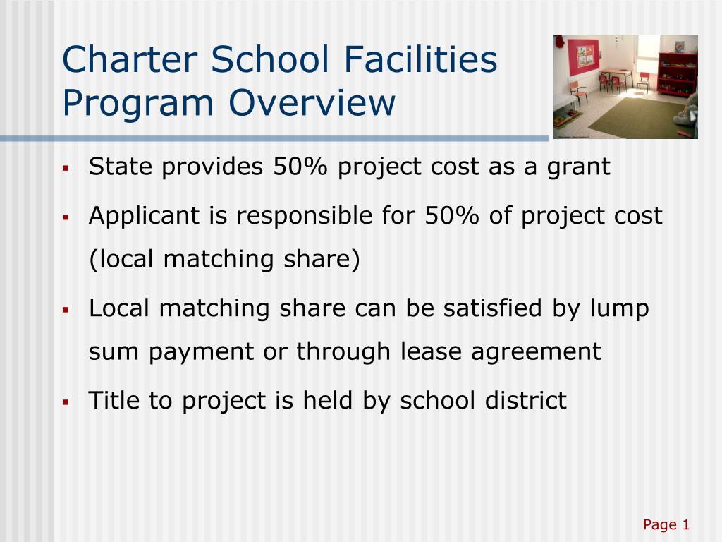 Charter School Facilities Program Overview