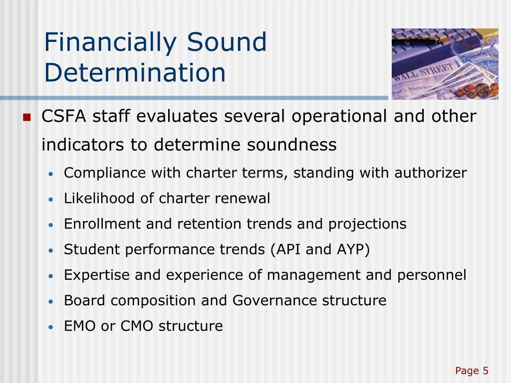 Financially Sound Determination