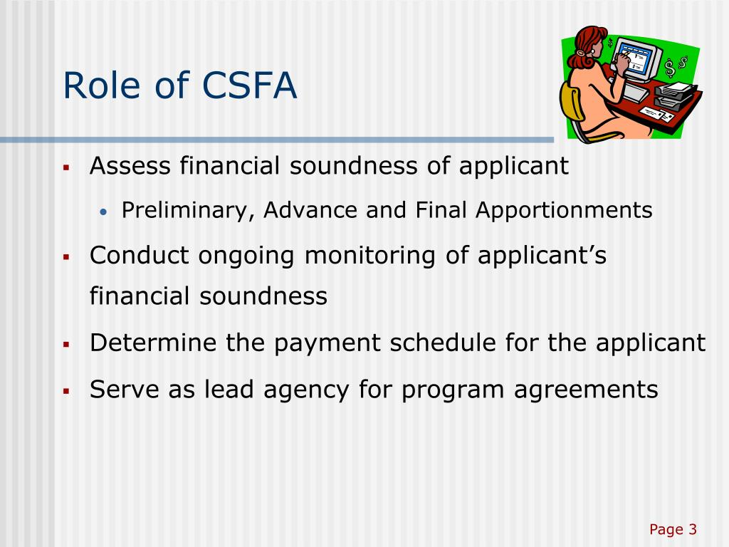 Role of CSFA