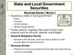 state and local government securities