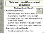 state and local government securities22