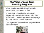 the value of long term investing programs