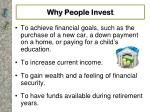 why people invest