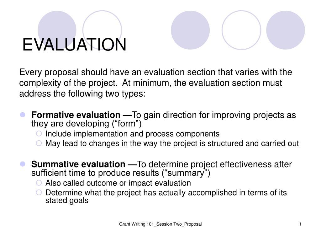 evaluation l.