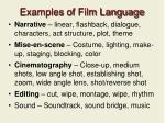 examples of film language