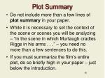 plot summary
