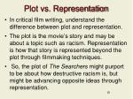 plot vs representation