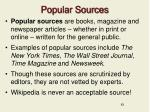 popular sources