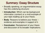 summary essay structure