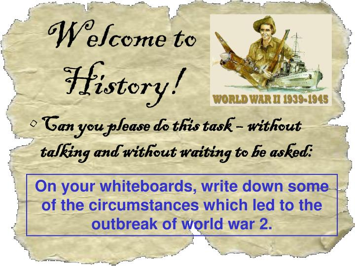welcome to history n.
