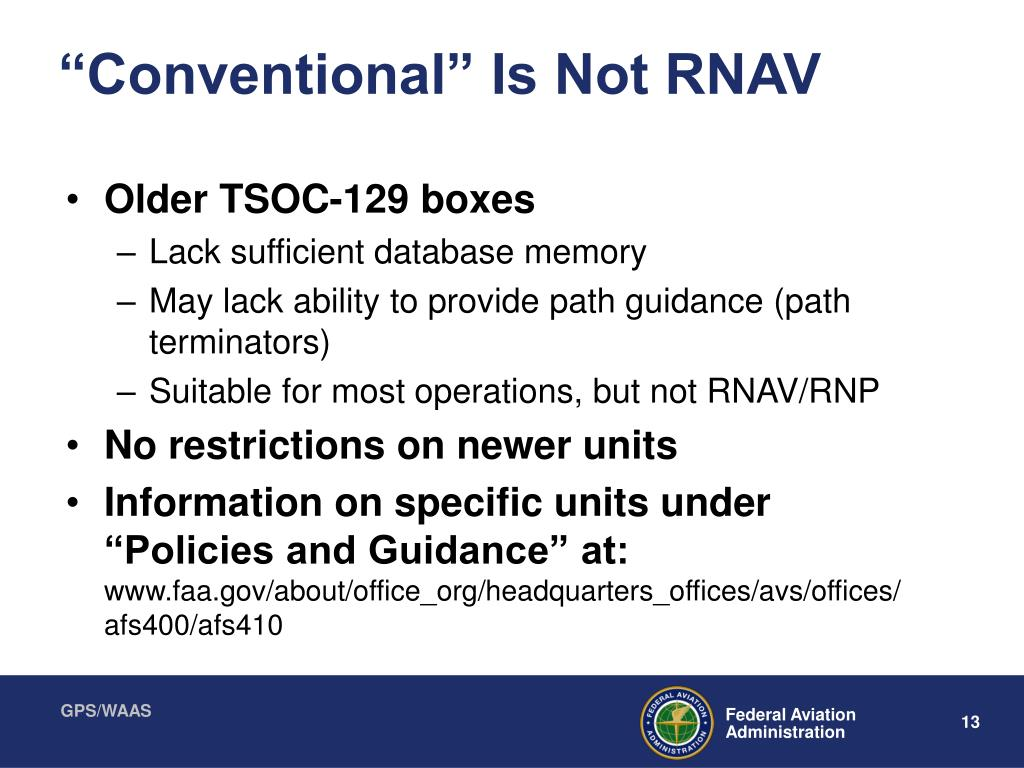 """Conventional"" Is Not RNAV"