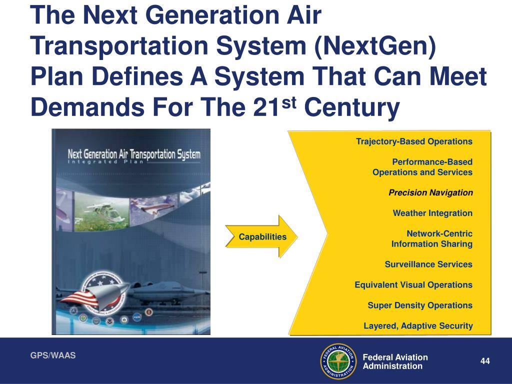The Next Generation Air Transportation System (NextGen) Plan Defines A System That Can Meet Demands For The 21