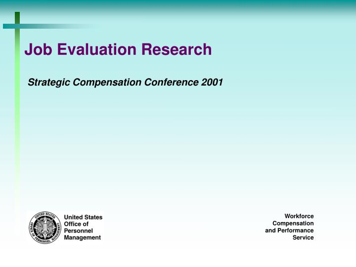 job evaluation research n.