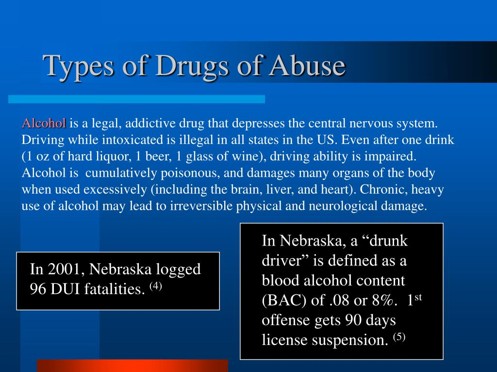 PPT - Introduction to Substance Abuse Drugs of Abuse