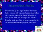 program model fidelity