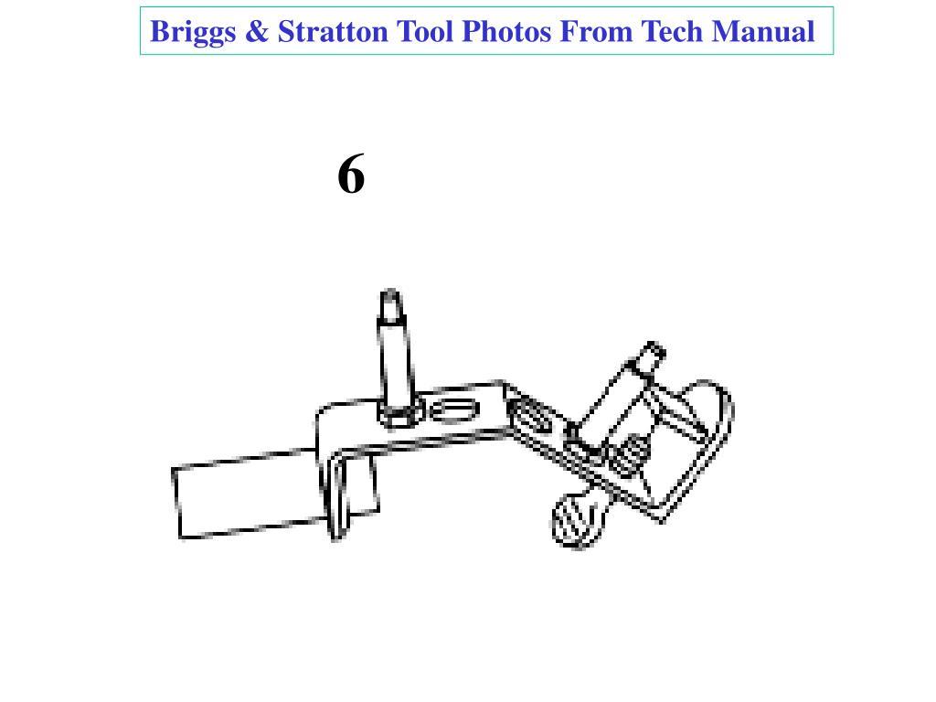 Briggs & Stratton Tool Photos From Tech Manual