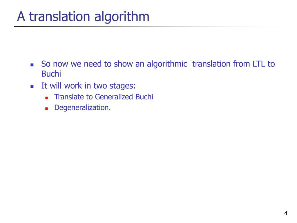A translation algorithm