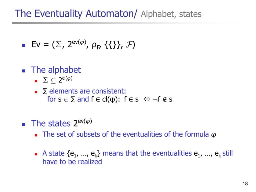 The Eventuality Automaton/