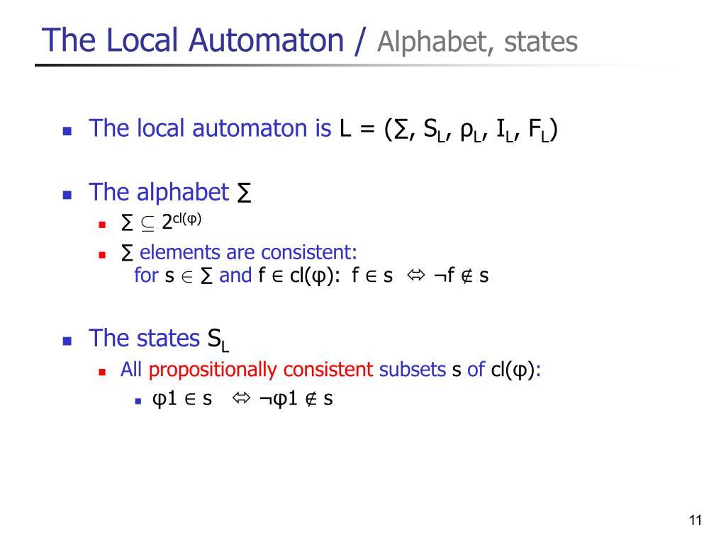 The Local Automaton /